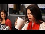Selena Gomez Tries Kale Juice Behind The Scenes On Air With Ryan Seacrest