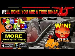 Веселая обезьянка Ниндзя 2 прохождение Monkey GO Happy Ninjas 2 Walkthrough
