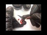 Маки с помощью фольги для дизайна ногтей и цветных гелей и гель-красок