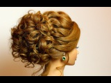 Prom bridal updo. Romantic hairstyle for long medium hair tutorial