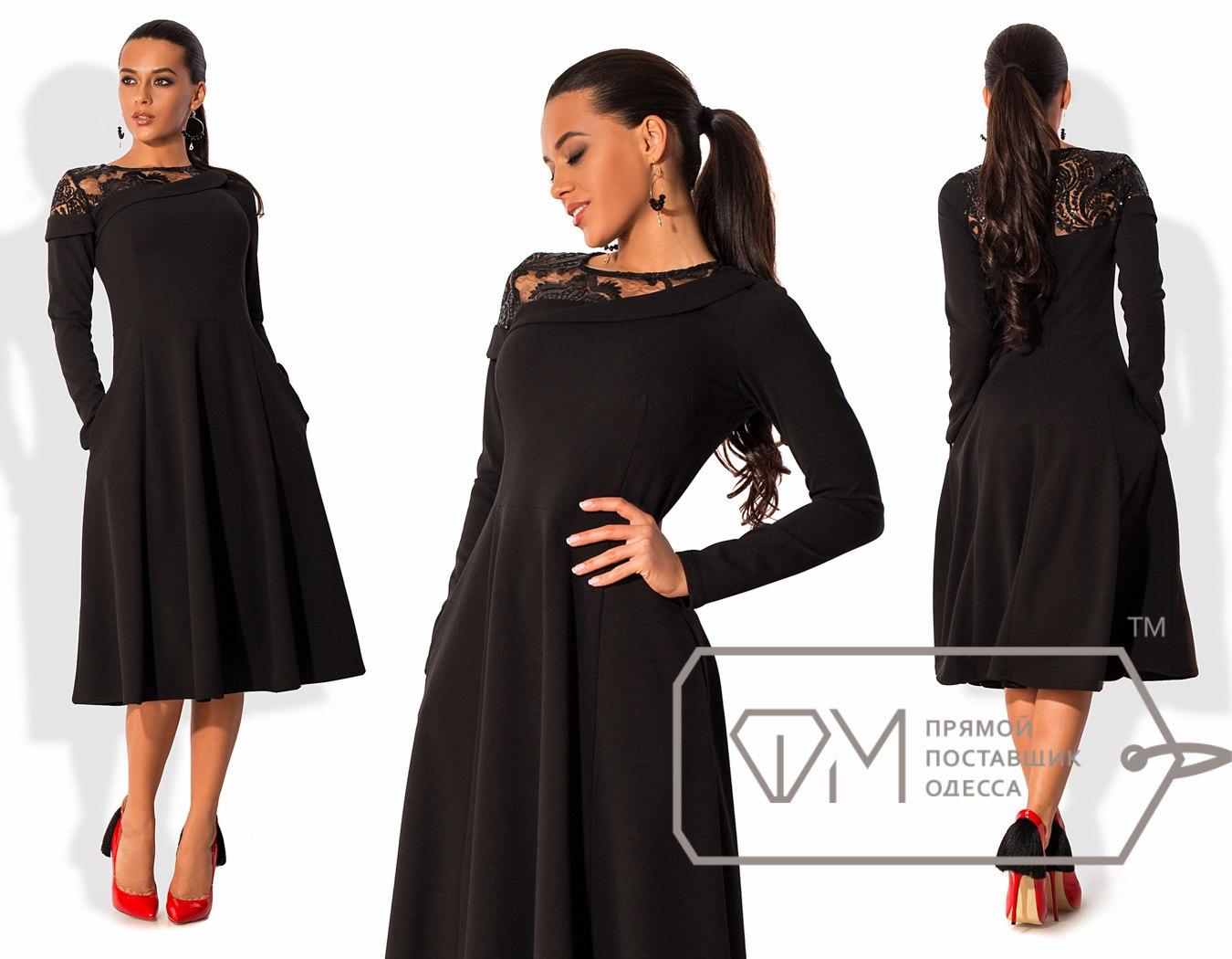Прямые платья французской длины