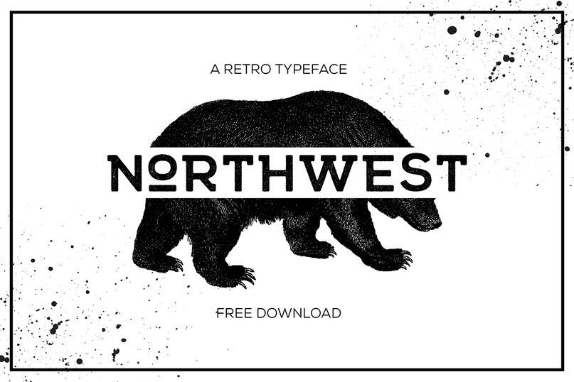 NORTHWEST шрифт скачать бесплатно