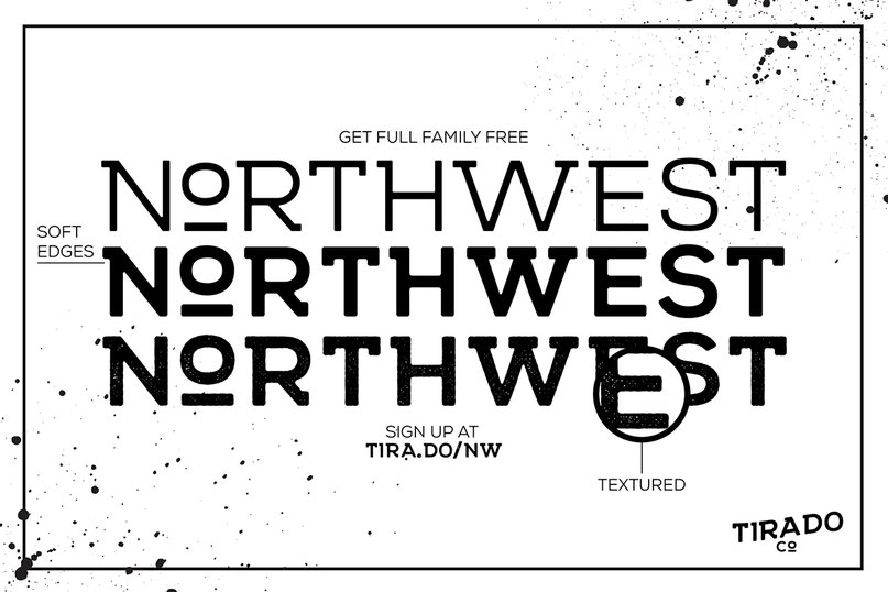 шрифт NORTHWEST