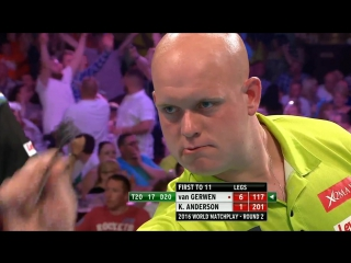 Michael van Gerwen v Kyle Anderson (PDC World Matchplay 2016 / Round 2)