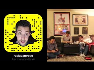 Supernatural Cast Live Tweet - Adam Rose Official Vlog_047