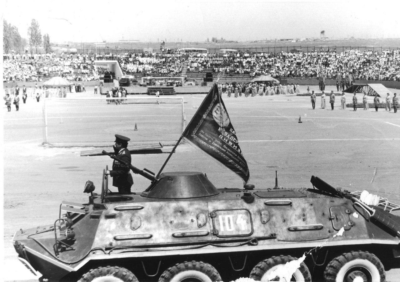 Парад 9 мая на мотодроме. 1987 год.