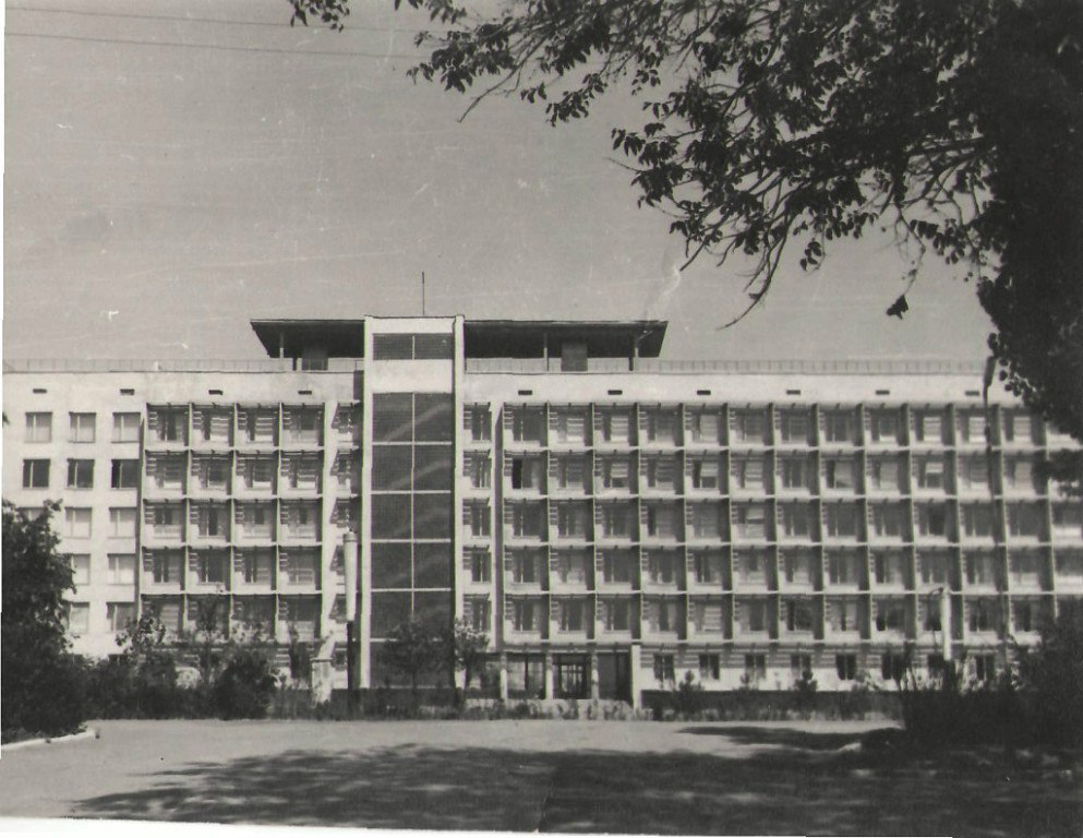 Дом правительства (вид с тыла). 1973 год.