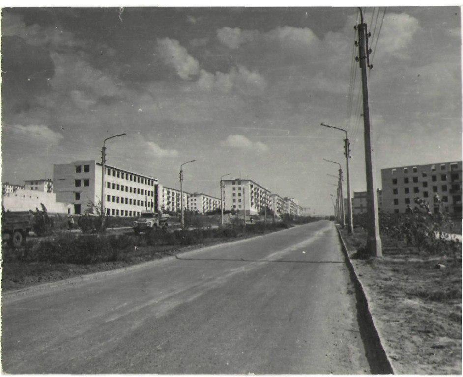 3-й и 4-й микрорайоны. 1973 год.