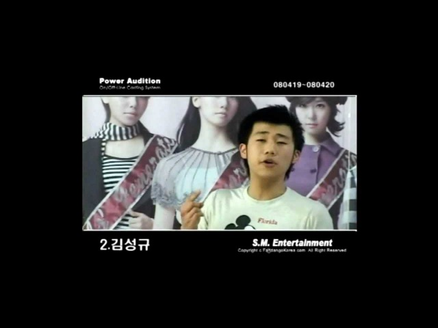[Pre-debut] Infinite's Sunggyu 2nd SM Audition 2008