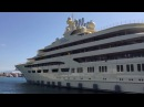 Worlds largest yacht by volume Dilbar inaugural call at Gibraltar U K