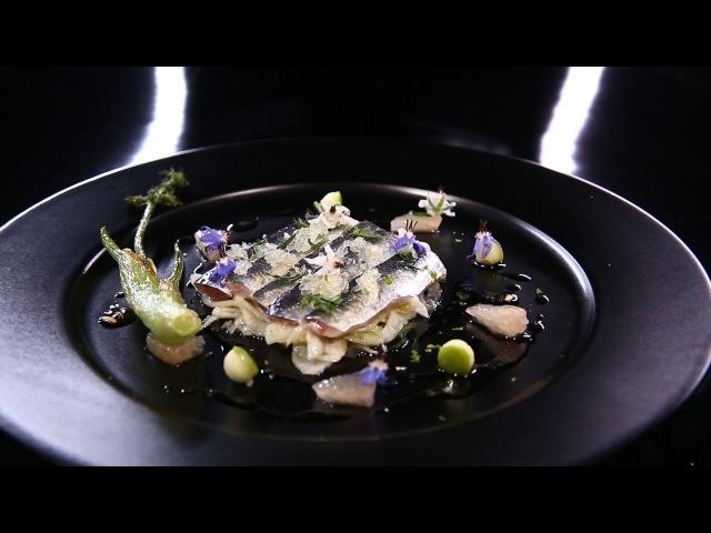 Sardines marinées au fenouil et poivre vert par Olivier Streiff DPDC