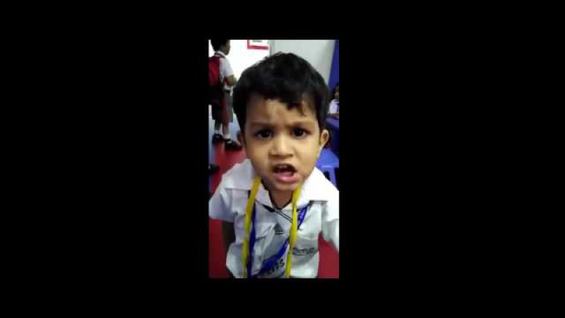 Funny babies he is the best signer in the India the boy was challenged superstar AR RAHAMAN