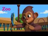 Английский язык для малышей - Мяу-Мяу - Zoo! (Зоопарк) Мультфильм детям - учим английские слова