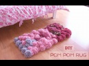 DIY Pom Pom Rug no glue Bedroom Decor Tutorial