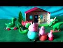 Peppa Pig свинка Пеппа и ее семья. Мультфильм для детей. Музей динозавров