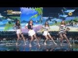 160624 SinB, Jihyo, Tzuyu, Elkie - Loving U (SISTAR) @ Music Bank
