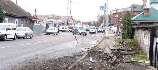 У Ковелі пізно ввечері «лихач» збив електроопору (ФОТО) - Новини -  Kowel.com.ua 464e6c4a2e52d