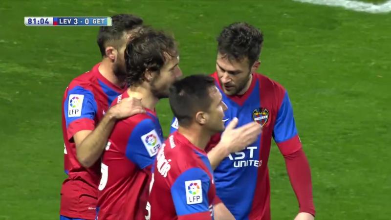 Леванте - Хетафе, 3-0, гол Верду, голевая Моралеса