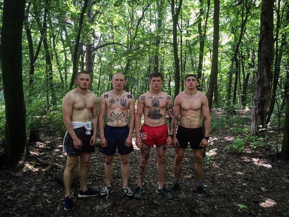 Татуировки активистов Национального корпуса (Азов)