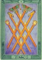 значение карты 6 шестерка жезлов таро Тота