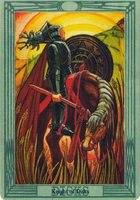 толкование и значение карты рыцарь пентаклей король дисков таро Тота