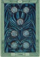 толкование и значение карты 7 дисков семерка пентаклей таро Тота