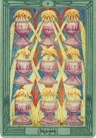 Значение и толкование карты 9 девятка кубков таро Тота