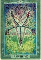 Значение и описание карты 5 пятерка мечей таро Тота