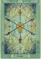 Значение и описание карты 6 шестерка мечей таро Тота