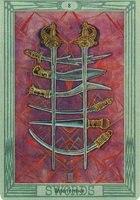 Значение и описание карты 8 восьмерка мечей таро Тота
