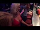 Super hot Swedish model with HUGE BOOBS watching naked boys Paradiso CLUB 2016
