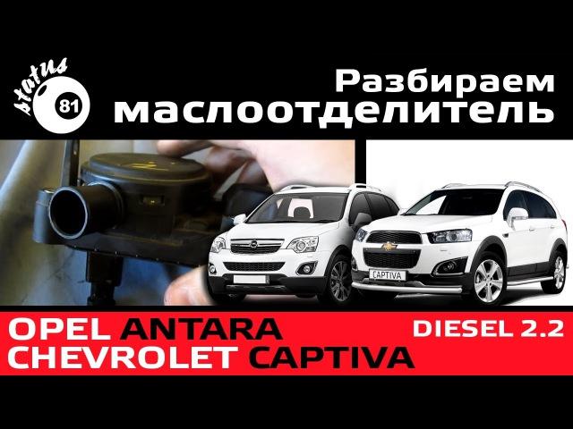 Разбираем маслоотделитель Chevrolet Captiva 2.2D / Opel Antara