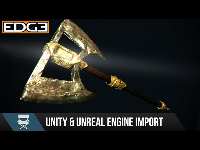 5 Game Axe Asset Creation Series - Importing into Unreal Unity Game engines HD