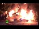 Magdeburg Sieben Polizeiwagen und elf weitere PKW am Bahnhof in Brand gesetzt