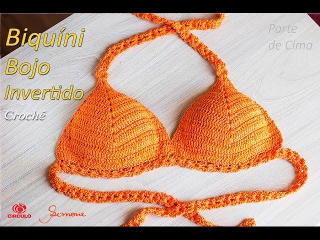 Biquíni de Crochê com bojo invertido   Tamanhos: P,M,G,GG e EXG Professora Simone
