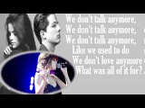 Charlie Puth - We Don't Talk Anymore (feat. Selena Gomez) lyric (live)