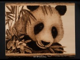 Pyrography of a Panda Bear  (Timelapse - 224x speed)
