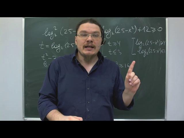 ЕГЭ-2017. Математика. Задание 15 (логарифмическое неравенство)