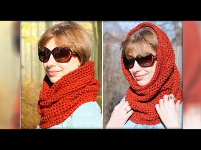 Шарф-снуд крючком для начинающих. Scarf-Snood crochet for beginners.