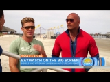 Join Dwayne The Rock Johnson, Zac Efron On The Set Of Baywatch Reboot - TODAY - YouTube