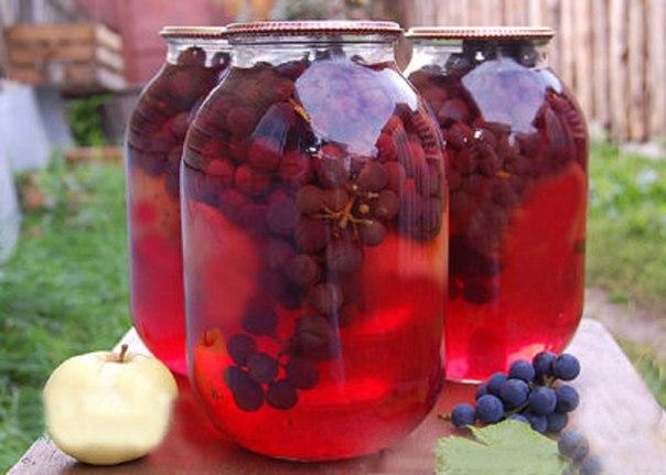 виноград компот на зиму рецепты с фото