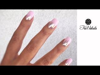 Дизайн ногтей Хром градиент