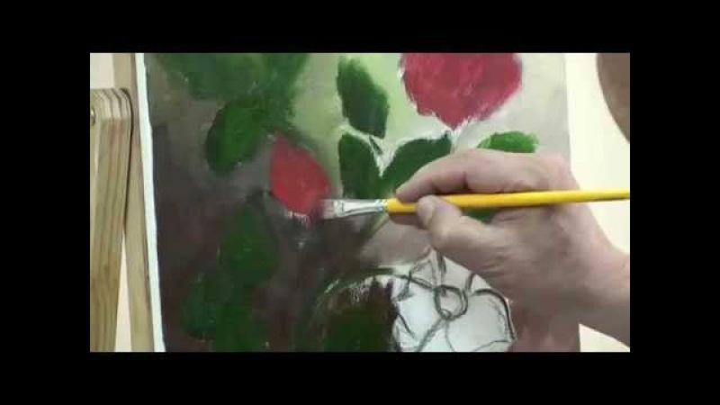 Pintura de Rosas Waldir Catanzaro