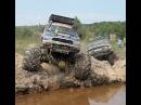Разрываем зачетную Ямищу Бигфутами котлетами ОГОНЬ off road 4x4 Big Foot in Deep Mud