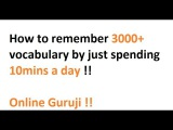 How to remember 3000+ vocabulary by just spending 10 mins a day !!