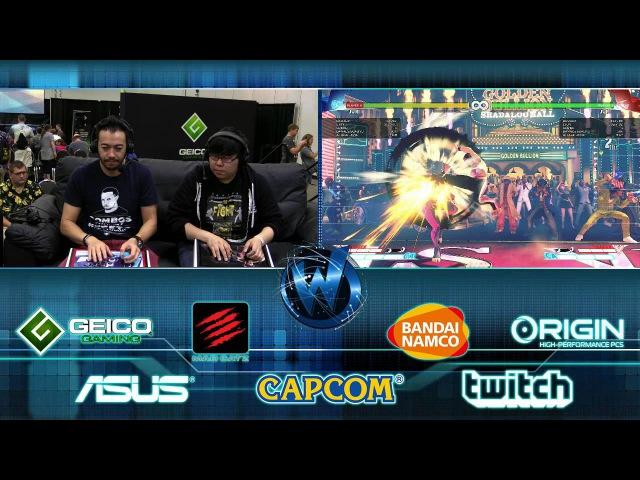 Street Fighter V Boot Camp w/ @gootecks Justin Wong @JWonggg - @wizardworldgame Columbus Day 2