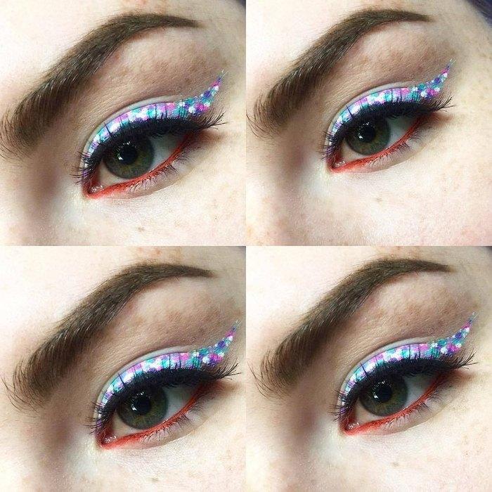 стрелка конфетти, Модный макияж,  макияж бровей