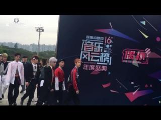#DOYOUNG #NCT_U 160409 音乐风云榜 红毯💪🏻💪🏻