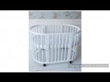 Кроватка-трансформер 5 в 1 белая + набор матрасов Феалта-baby