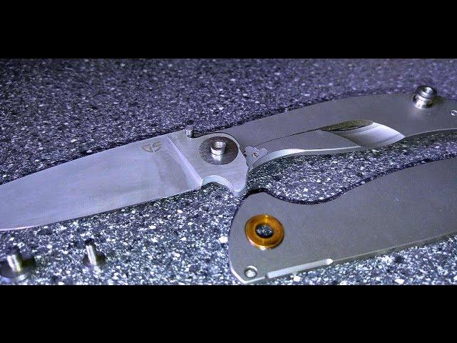 Замена клинка и установка статичных шайб на реплику Ф95. M390брб2т.